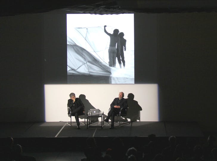 Hernan Diaz Alonso and Ray Kappe in conversation at SCI-Arc on March 2, 2016. Photo courtesy of SCI-Arc.