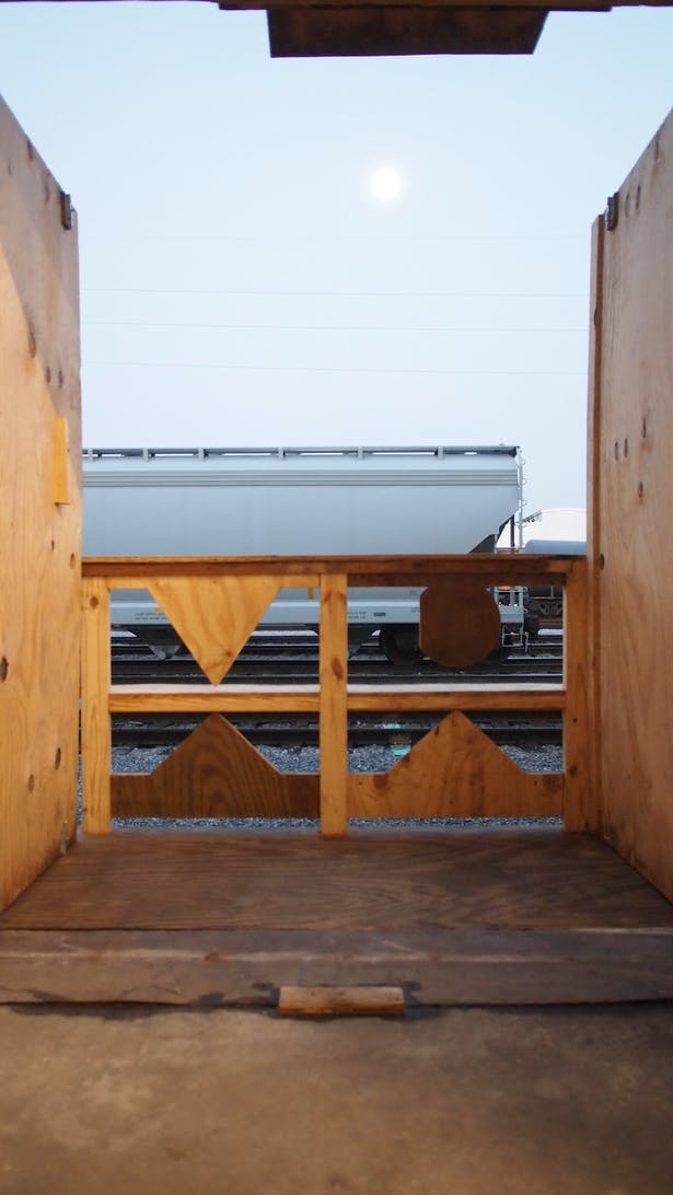 gallery deck overlooking the Press Street train yard