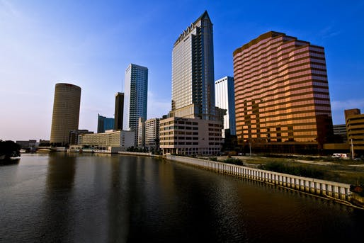 "Downtown Tampa. Much of the city is barely a few feet above sea level with not enough attention spent on resilience until recently, says WaPo writer, Darryl Fears. Photo via <a href=""https://www.flickr.com/photos/sonnysideup/2509285441/"">Flickr</a>."