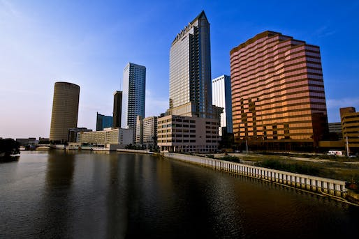 Downtown Tampa. Much of the city is barely a few feet above sea level with not enough attention spent on resilience until recently, says WaPo writer, Darryl Fears. Photo via Flickr.