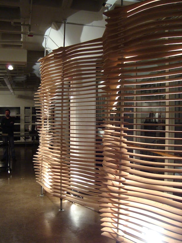Louvered Screen Partition