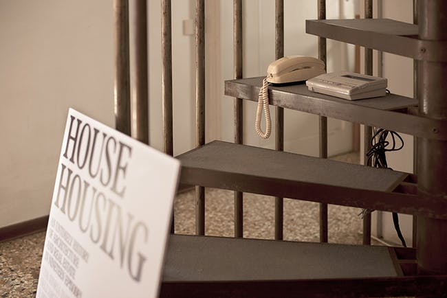 'House Housing: An Untimely History of Architecture and Real Estate in Nineteen Episodes' exhibition, via house-housing.com.