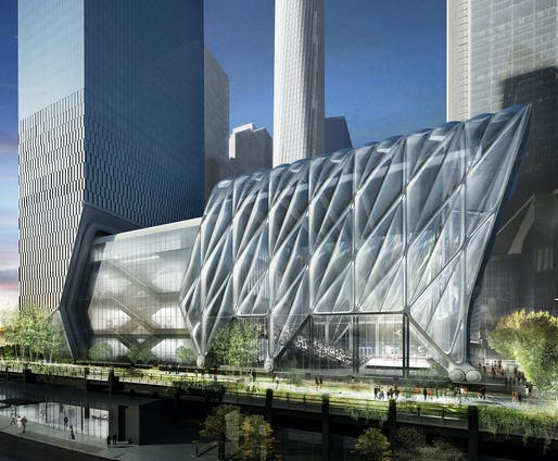 Oct 26: The Shed, Architects: Diller, Scofidio + Renfro in collaboration with Rockwell Group, Image courtesy of Diller Scofidio + Renfro in collaboration with Rockwell Group.