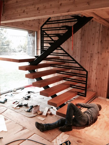 stair installation in progress