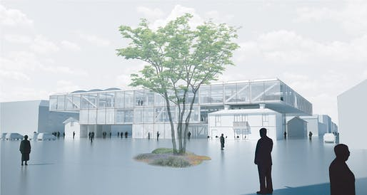 Visualization of the proposed Lidköping Police Building by LETH & GORI (Image: LETH & GORI)