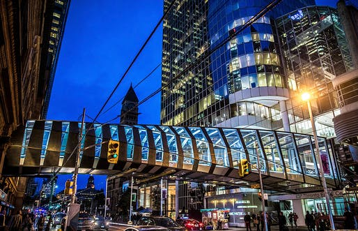 CF Toronto Eaton Centre Bridge, Toronto, Canada, 2018 by WilkinsonEyre. Photographed by Stefan Palman and James Brittain.