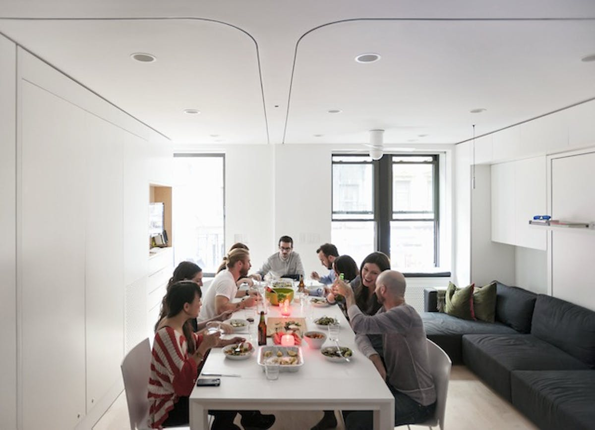 The tiny transforming apartment that packs eight rooms for The living room channel 10 competition