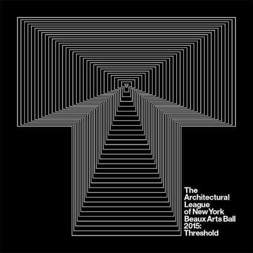Beaux Arts Ball 2015: Threshold. Graphic design by Pentagram.