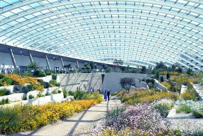 National Botanic Garden of Wales in Llanarthney, UK by Foster + Partners; landscape architect: Gustafson Porter