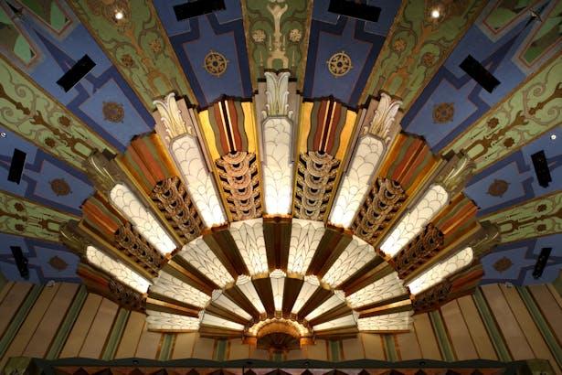 Spokane Fox Theater Art Deco Proscenium Ceiling