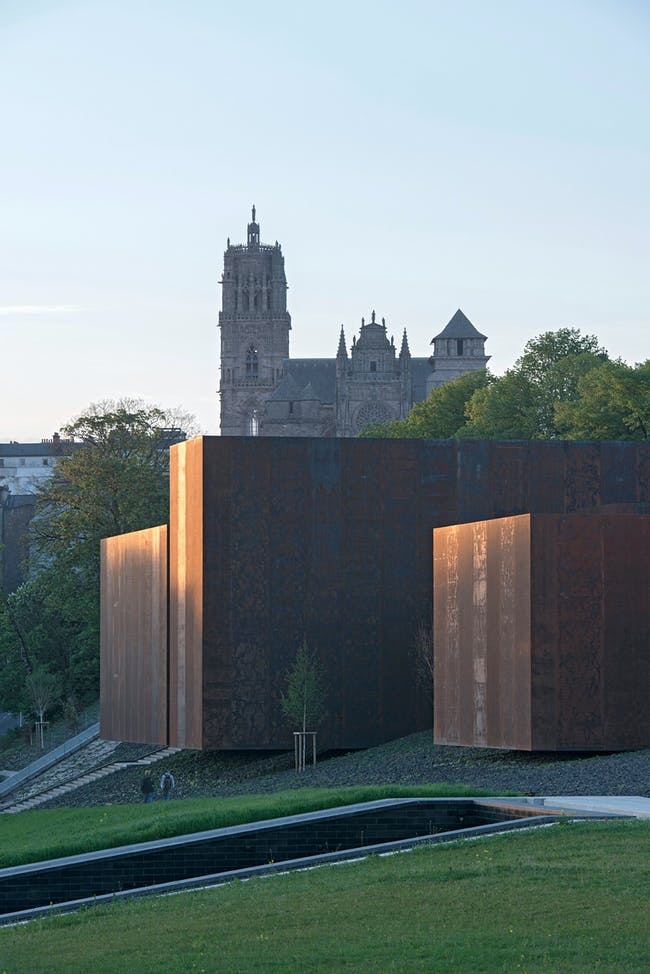 Soulages Museum in Rodez, France by RCR Arquitectes. Photo: Pep Sau.