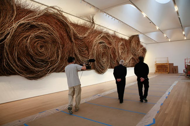 'Bending Sticks', a film on environmental artist Patrick Dougherty, who creates unforgettable sculptures from found sticks. The feature is one of 25 other films in this year's ADFF line-up. Photo by Frank Konhaus. Photo provided by Novita Communications.
