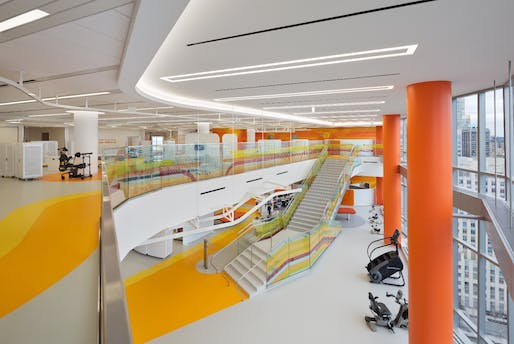 Health Winner: Shirley Ryan AbilityLab (Chicago, USA) by HDR + Gensler + Clive Wilkinson Architects. Photo: Michael Moran.