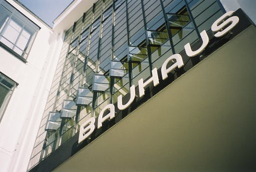 Back to school: the Herbert Bayer designed typography of the Bauhaus Dessau. Image via Wikipedia.