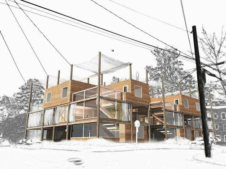 Telephone Wire Townhouse. Courtesy of PMDD.