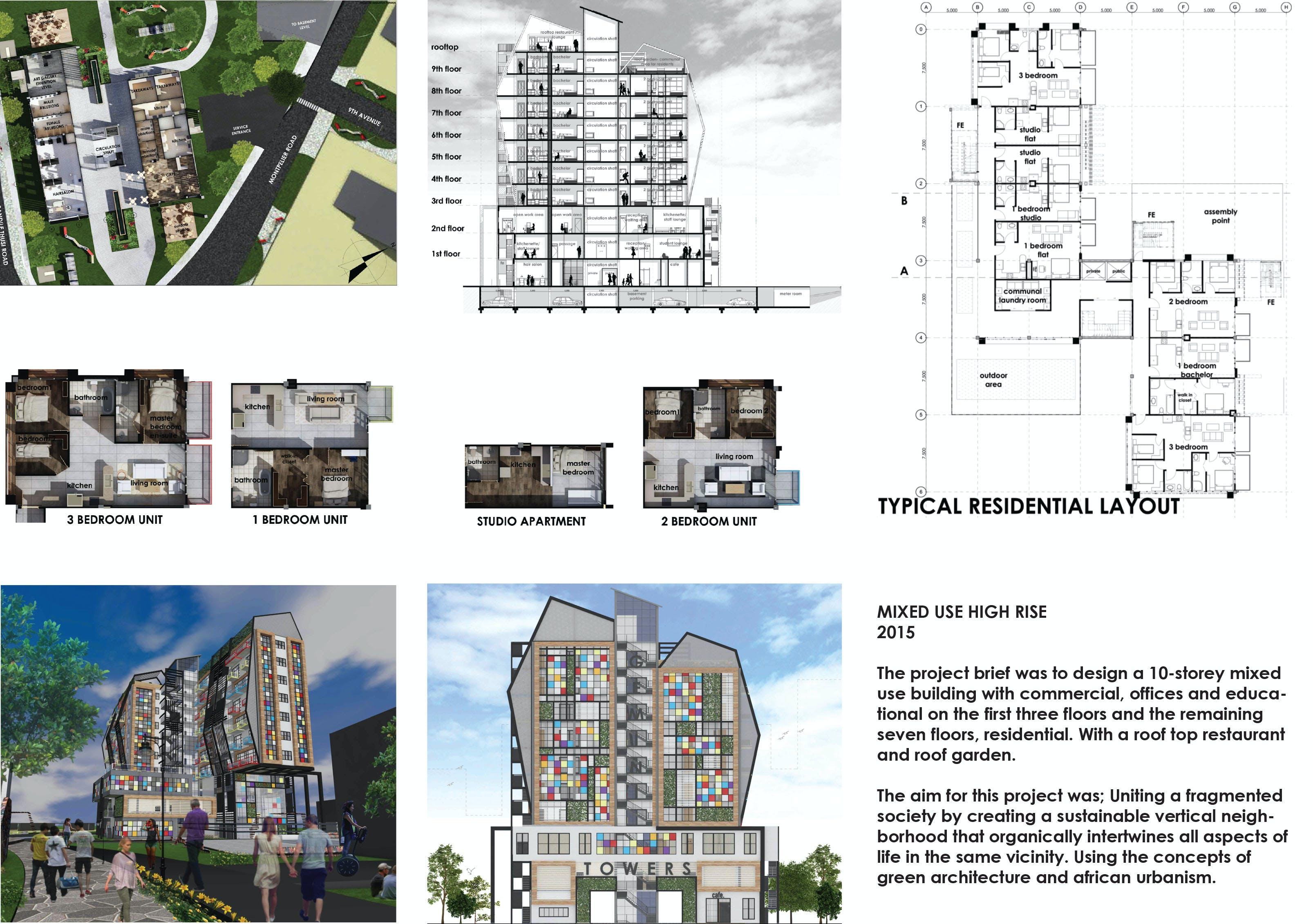 Mixed use high rise tobi ashiru archinect