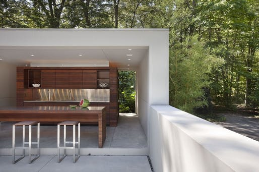 "Outdoor kitchen in <a href=""http://archinect.com/firms/project/56904349/new-canaan-residence/109091915"">New Canaan Residence by Specht Harpman</a>"