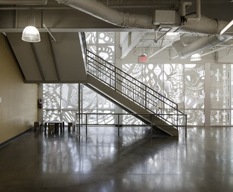 Patterning Porosity - Curtain Wall Installation