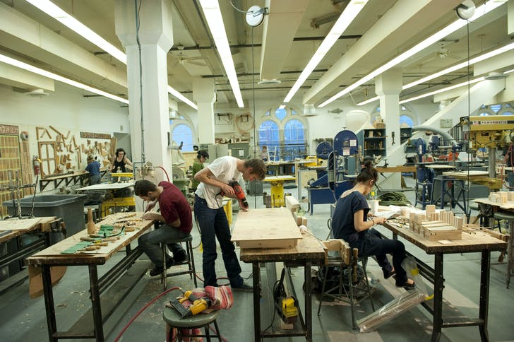 Cooper architecture students at work. Image courtesy of Cooper Union.