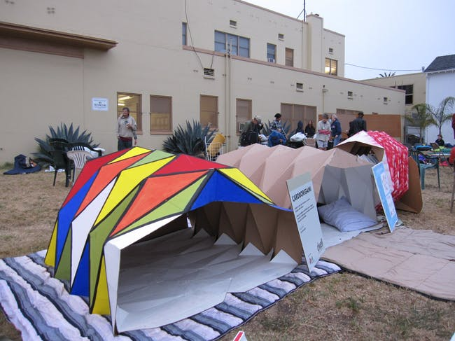 Cardborigami Instant Space in Los Angeles, CA by Tina Hovsepian & team