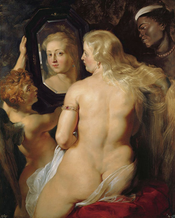 Figure 2. 'Venus Before a Mirror' by Peter Paul Rubens. Image via Fresh Meat.
