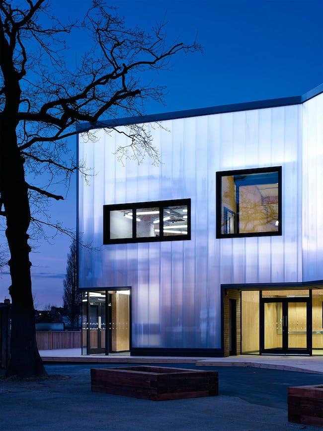 Graveney School Sixth Form Block in Tooting, London, UK by Urban Projects Bureau; Photo: Kilian O'Sullivan