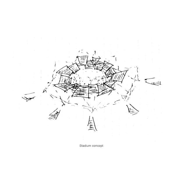 Nanodome stadium sketch