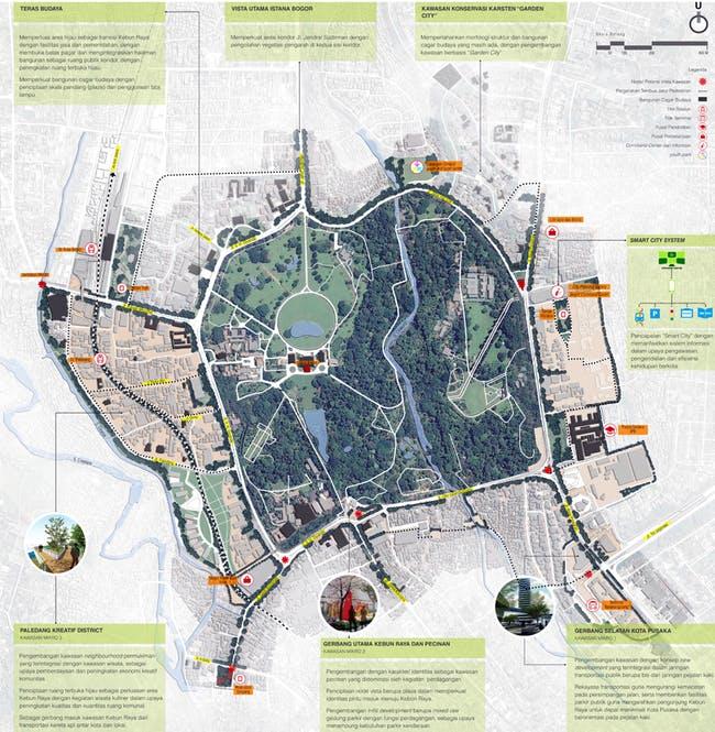 PSUD proposal 'Kota Pusaka 'Teduh' dalam Taman (Lush Heritage City in Park)- Towards Indonesian first ecopolis' (siteplan)