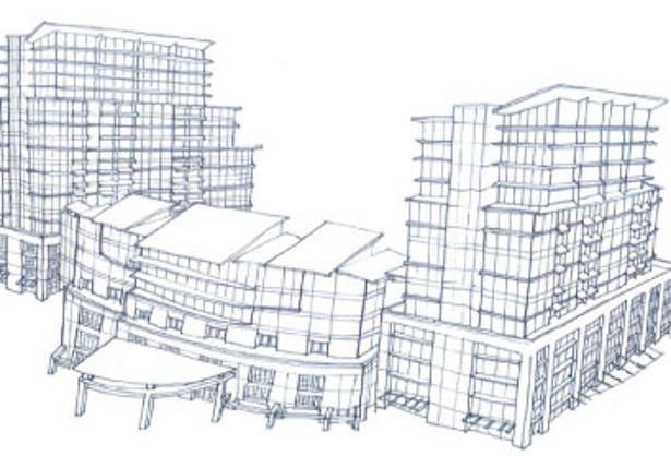 Hand Sketch of design for Grand Beach Resort in Orlando, FL
