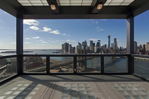 The Clock Tower - view of Lower Manhattan and the Brooklyn Bridge from the terrace