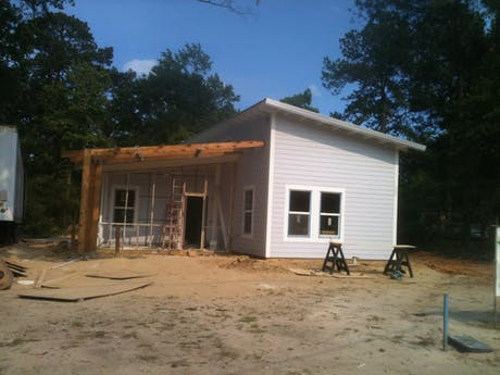 The house is close to complete.