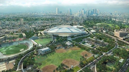 Screenshot from ZHA's 'New National Stadium Video Presentation'.
