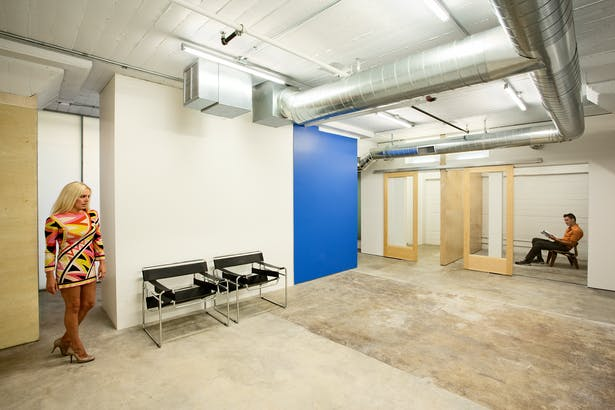 sustainable office TI in loft warehouse building. off the shelf budget details + finishes. natural materials | bright spaces | functional program. 4,073 sq ft