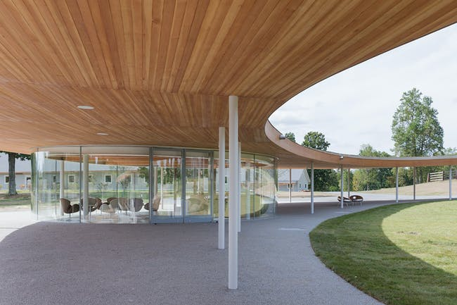 Grace Farms, the River building, Pavilion; © Iwan Baan