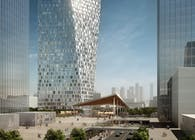 Aedas wins competition to design Xuhui Binjan Media City 188S-G-1 Tower and Podium