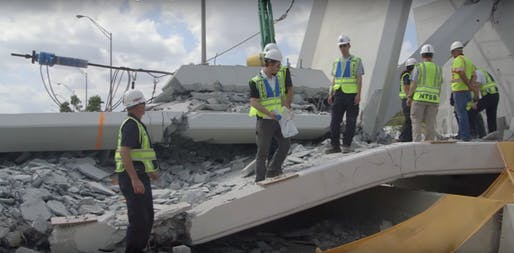 The collapse of the Florida State University bridge on March 15, 2018. Image: National Transportation Safety Board.