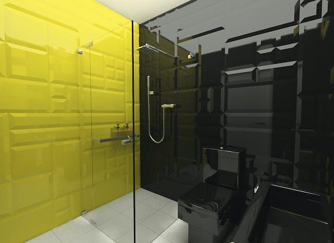 Little bathroom in Łódź, Poland by meinDESIGN