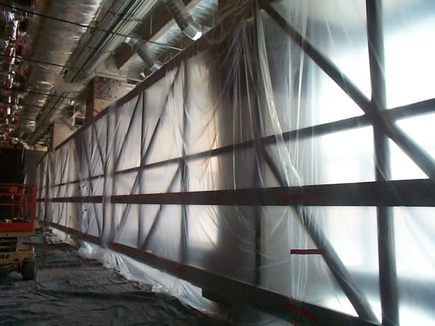 wall truss prior to installation