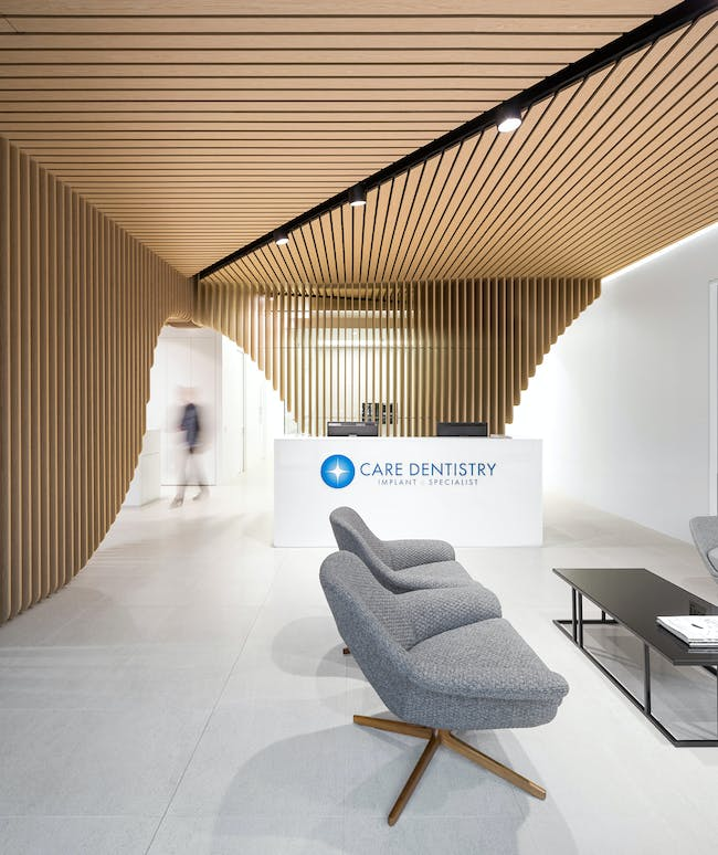 INSIDE World Festival of Interiors - Health & Education: Care Implant Dentistry, Australia by Pedra Silva Architects.