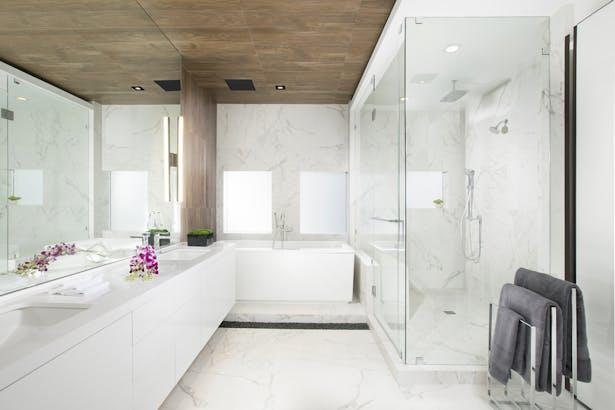 Master bathroom - Residential Interior Design Project in Aventura, Florida