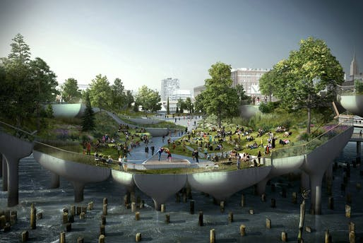 Heatherwick Studio's rendering of New York's Pier 55.