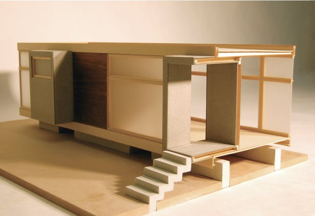 3/4' Sectional Model (basswood, acrylic, rockite)