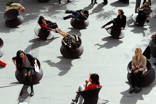 Heatherwick Studio's spun chairs (photo by Susan Smart).