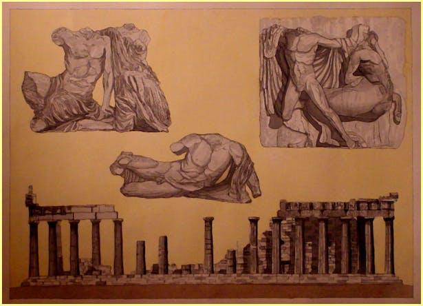 Watercolor Rendering of Parthenon Details