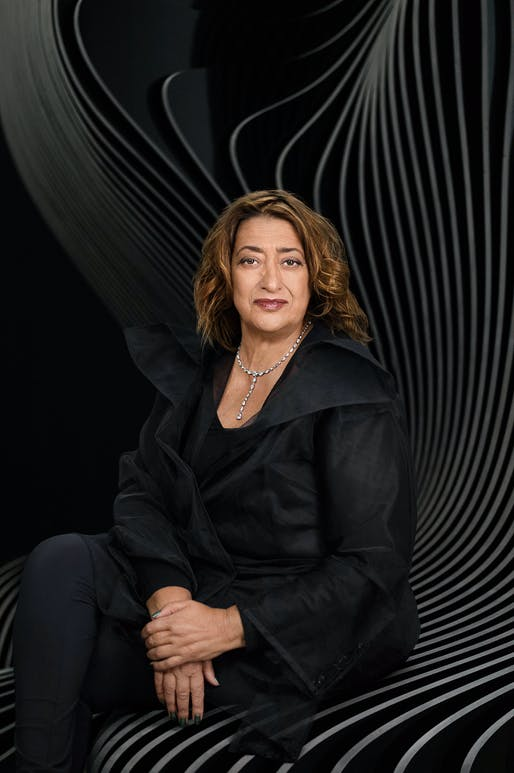 Zaha Hadid portrait by Mary McCartney