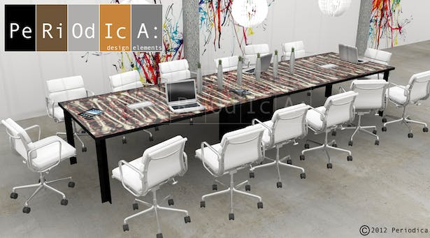 Custom Conference Table. (art by Kenneth A. Huff)