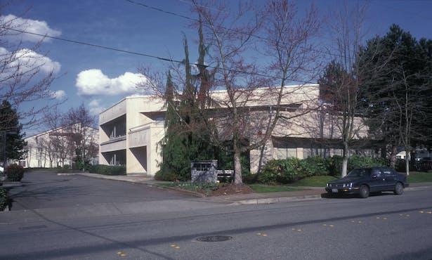 view of original building