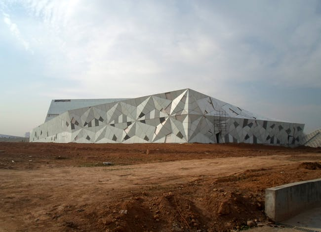 The Datong Library in China is currently under construction. Credit: Preston Scott Cohen, Inc.
