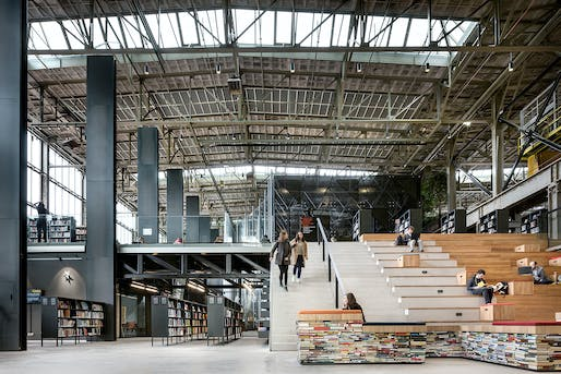 World Building of the Year 2019: LocHal Public Library in Tilburg, the Netherlands by Civic architects (lead architect), Braaksma & Roos Architectenbureau, Inside Outside / Petra Blaisse © Stijn Bollaert