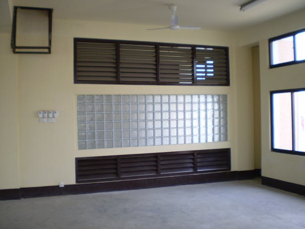 Louver on Partition Wall